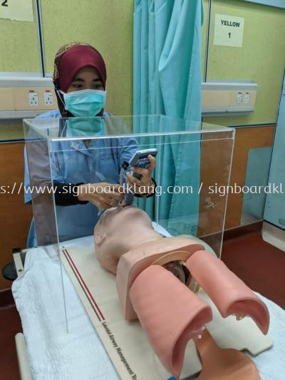 Acrylic DIY safety box  Kotak perlindungan intubasi
