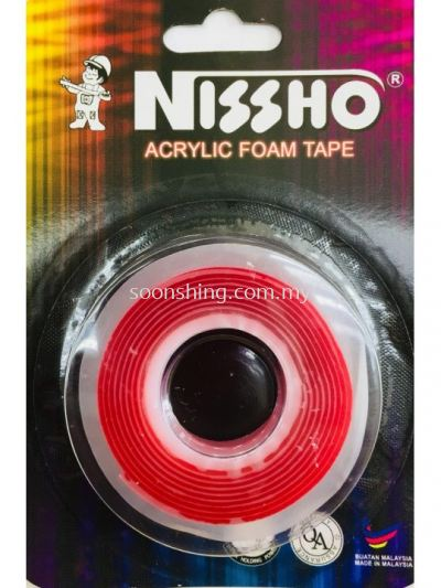 NISSHO ACRYLIC FOAM TAPE - CLEAR 12mm