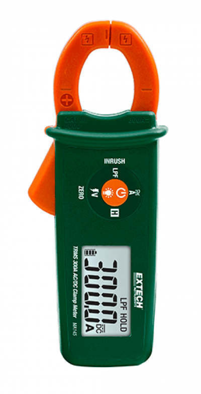 Extech MA145 True RMS 300A AC/DC Clamp Meter