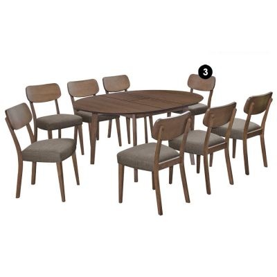 Cartier (1+8) Solid Wood Extendable Dining Set