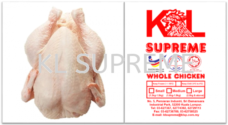 Chicken Super (no head & feet, no liver & gizzard)/全鸡(没有头&脚, 没有鸡肝&鸡珍)/Ayam Bersih (tak ada kepala & kaki, tak ada hati & pedal) Whole Chicken Chicken