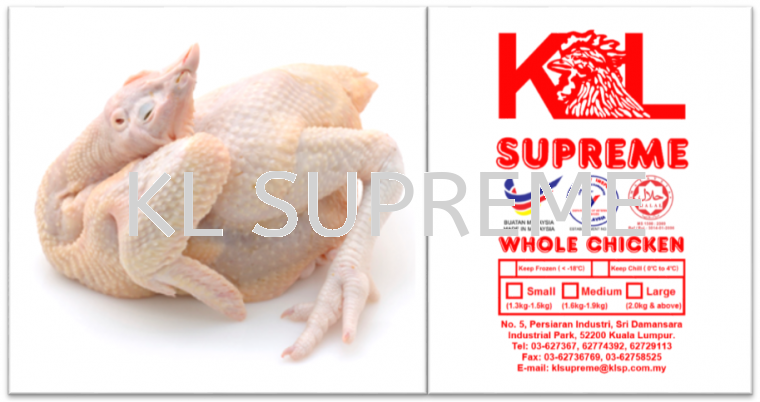 2.	Chicken Bersih (have head & feet, no liver & gizzard)  Chicken Parts Chicken