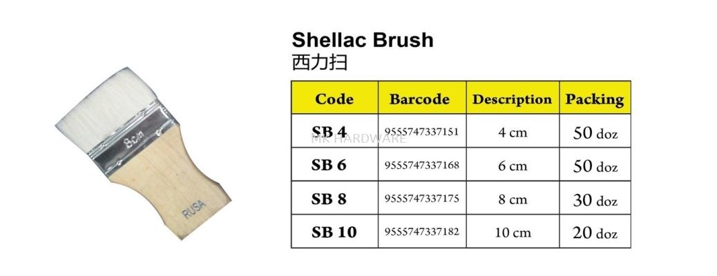 SHELLAC BRUSH