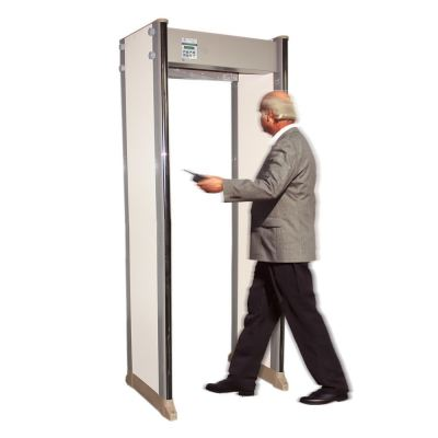 Walk-through Metal Detector Gate with Thermometer