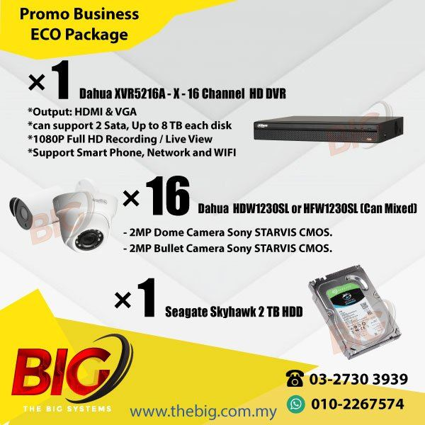 Promo Business  ECO CCTV 16 Channel HDDVR Package 1