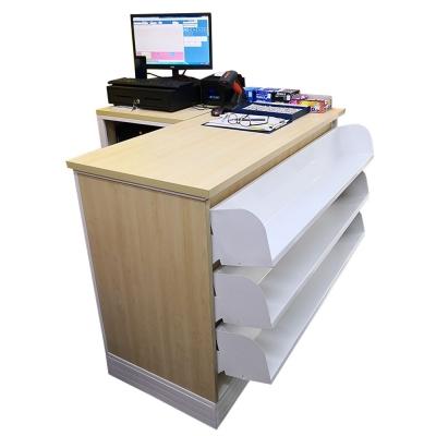 4'ft Oppa Cashier Counter & Ecr Stand -3Book Shelf