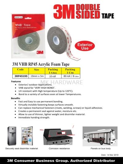 3M VHB RP45 ACRYLIC FOAM TAPE