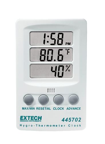 445702: Hygro-Thermometer Clock
