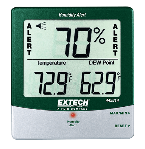 445814: Hygro-Thermometer Humidity Alert with Dew Point
