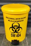 Yellow Medical Waste Step Bin 10L Bio hazard Bin Bio Hazard Bin Clinical Waste Bins and Receptacles