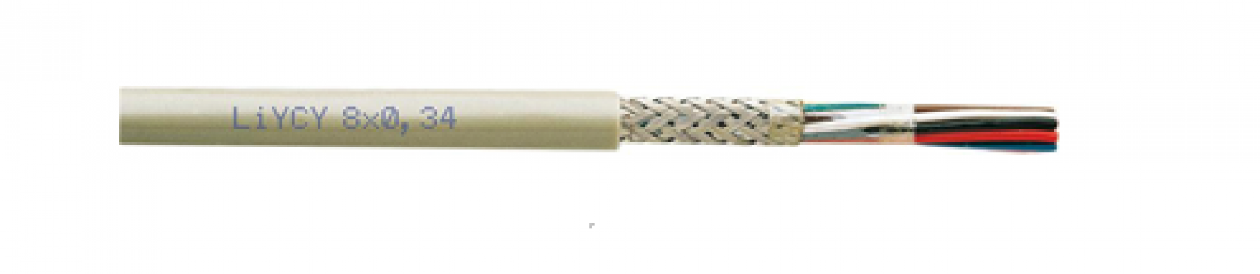 Screened electronic cable LiYCY