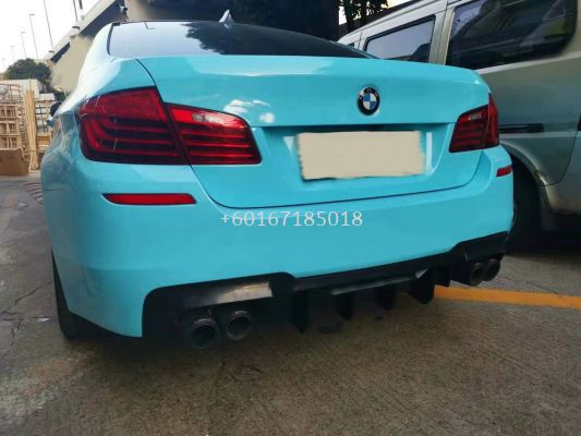 bmw f10 rear diffuser msport v2 style m5 msport replace upgrade quad performance look gloss black pp material