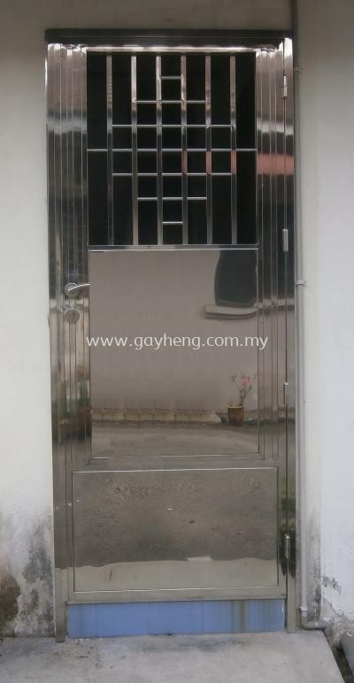 Stainless Steel Double Open Single Door Grille �ֵ�Ҷ˫������