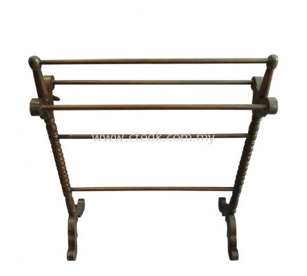 Twisted Towel Rack (Walnut)