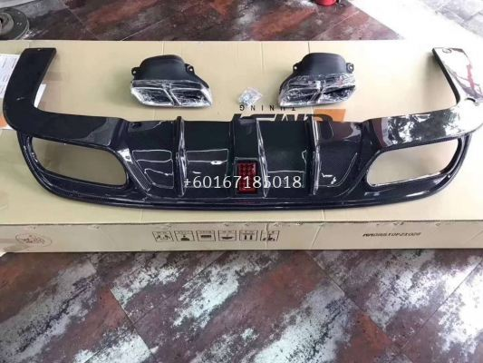 mercedes benz w205 amg rear diffuser cmst style replace upgrade real carbon fiber material