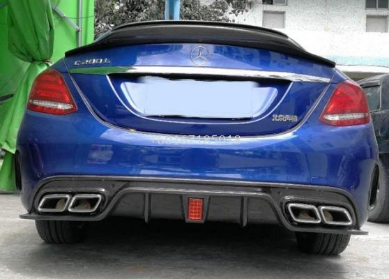 mercedes benz w205 amg line rear diffuser cmst style replace upgrade real carbon fiber material