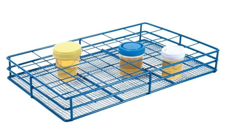WIRE URINE CONTAINER RACK