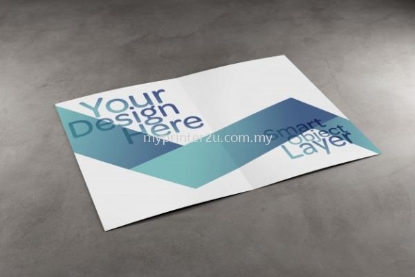 A3 Art Paper Brochure 128g (Half Fold)
