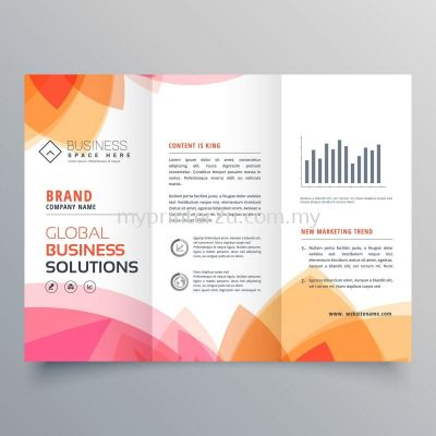 A3 Art Paper Brochure 128g (Tri-Fold)