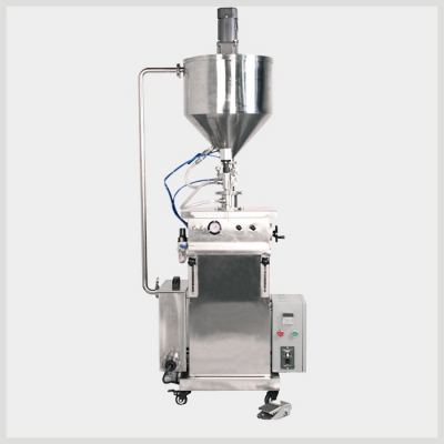 W-F700-V500-5000 500-5000grams vertical paste Filling Mahcine With heating and stirrer system