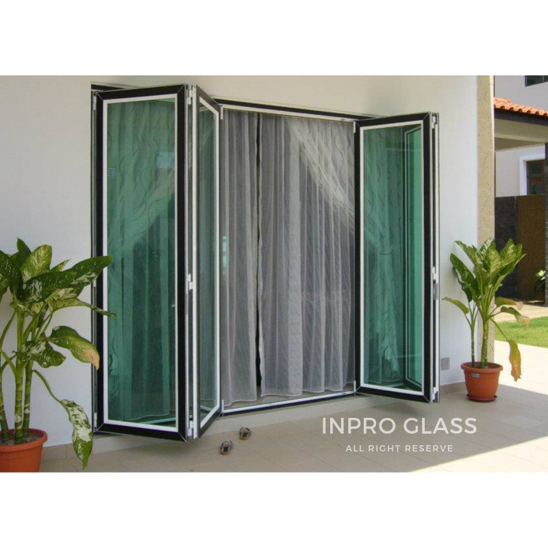 IPGFD-6 MULTIPOINT GLASS FOLDING DOOR WITH 6MM TEMPERED GLASS