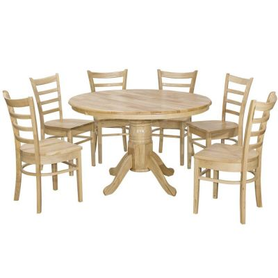 Coco (1+6) Solid Wood Dining Set