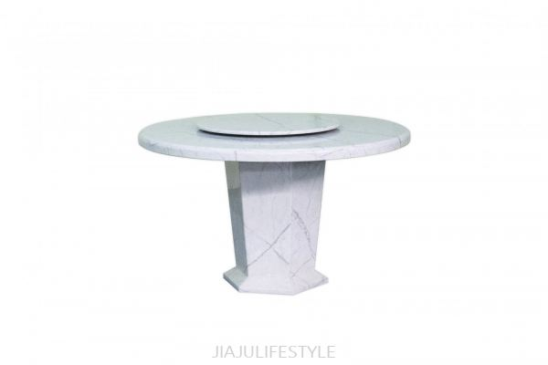 DIA 1300 Laminated Marble Dining Table with Revolving Top (021)