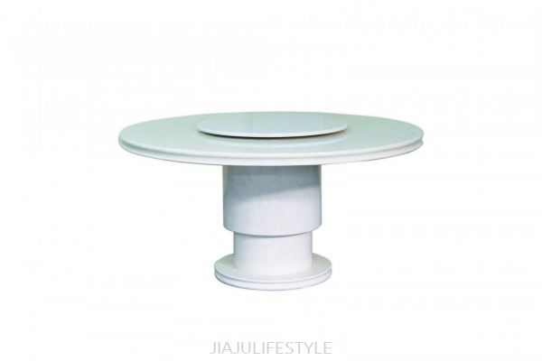 DIA 1350 Laminated Marble Dining Table with Revolving Top (207)