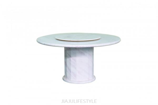 DIA 1500 Natural Marble Dining Table with Revolving Top (AFRICA NAMIBIAN ROSE STONE)