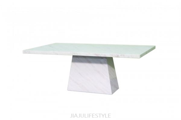 L2100 X W1100 Natural Marble Dining Table (AFRICA NAMIBIAN ROSE STONE)