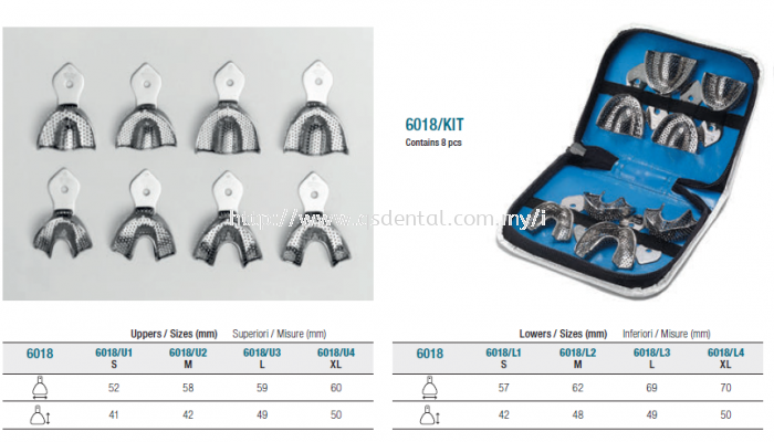 6018/Kit Stainless Steel Orthodontic (Children) Porforate Rim Lock