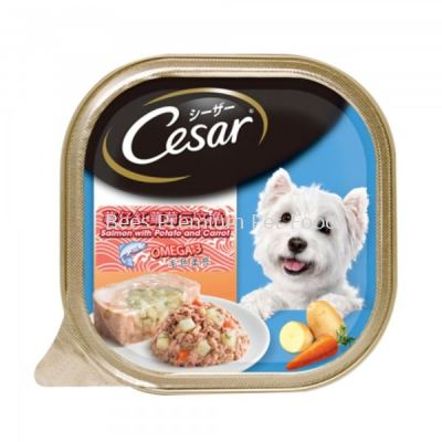 CESAR Dog Wet Salmon With Potato & Carrot 100g