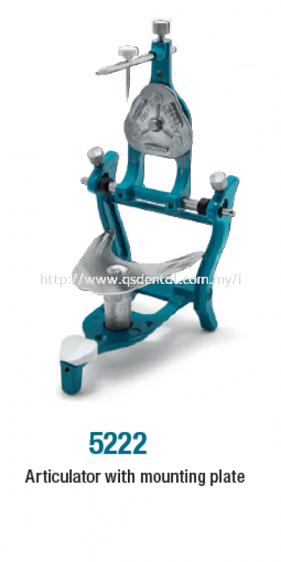 5222 Freeplane Articulator with mounting plate