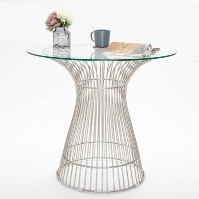 IPDTW-01 ROUND DINING TABLE WITH WIRE BASE