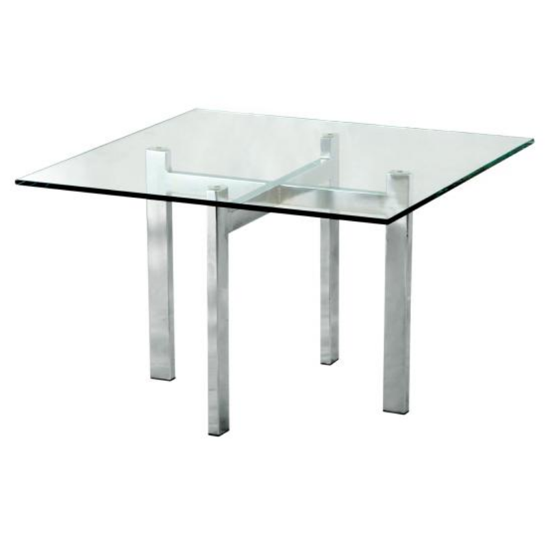 IPCL-7700/6T SQUARE COFFEE TABLE WITH TEMPERED GLASS TABLE TOP