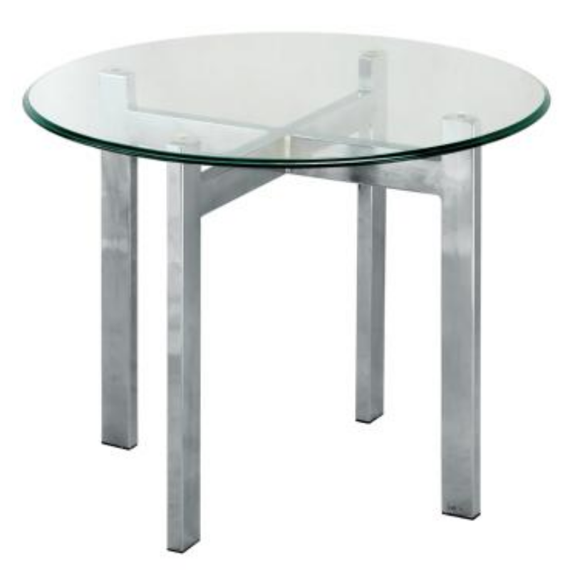 IPCL-7700/7T ROUND COFFEE TABLE WITH TEMPERED GLASS TABLE TOP