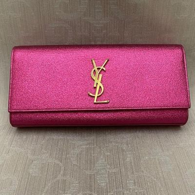 Brand New YSL Clutch Shimmering Pink with GHW