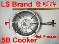 LS Brand High Pressure 5B Gas Cooker 隆顺牌高压5B灶炉(配梅花盆)
