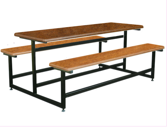 6 Seater Canteen Table - AK609 Fiberglass Table sets