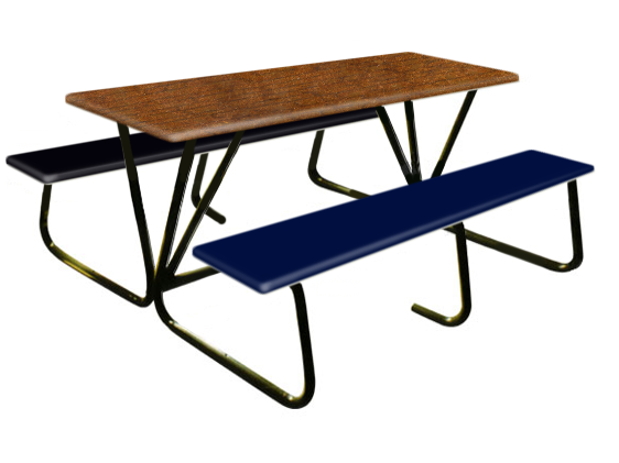 6 Seater Canteen Table - AK602 Fiberglass Table sets
