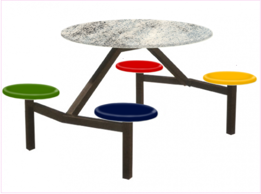 4 Seater Canteen Table - AK406