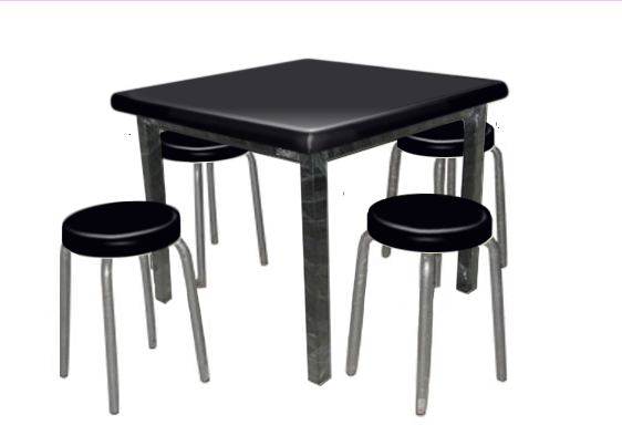 Square Restaurant Table with 4 seats Restaurant Table