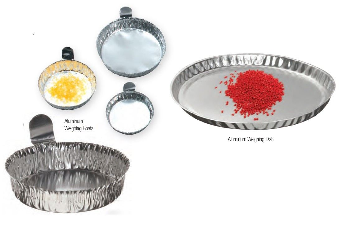 ALUMINUM WEIGHING BOATS AND ALUMINUM WEIGHING DISHES