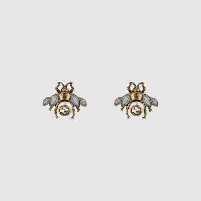 GUCCI EARRINGS - Bee earrings with crystals 880725