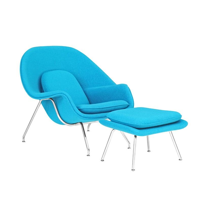 IPDCS-05 CHAISE SOFA LOUNGE CHAIR WITH OTTOMAN