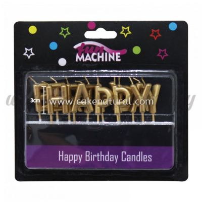 Candle Happy Birthday Set * Gold (CDL-31066-GO)