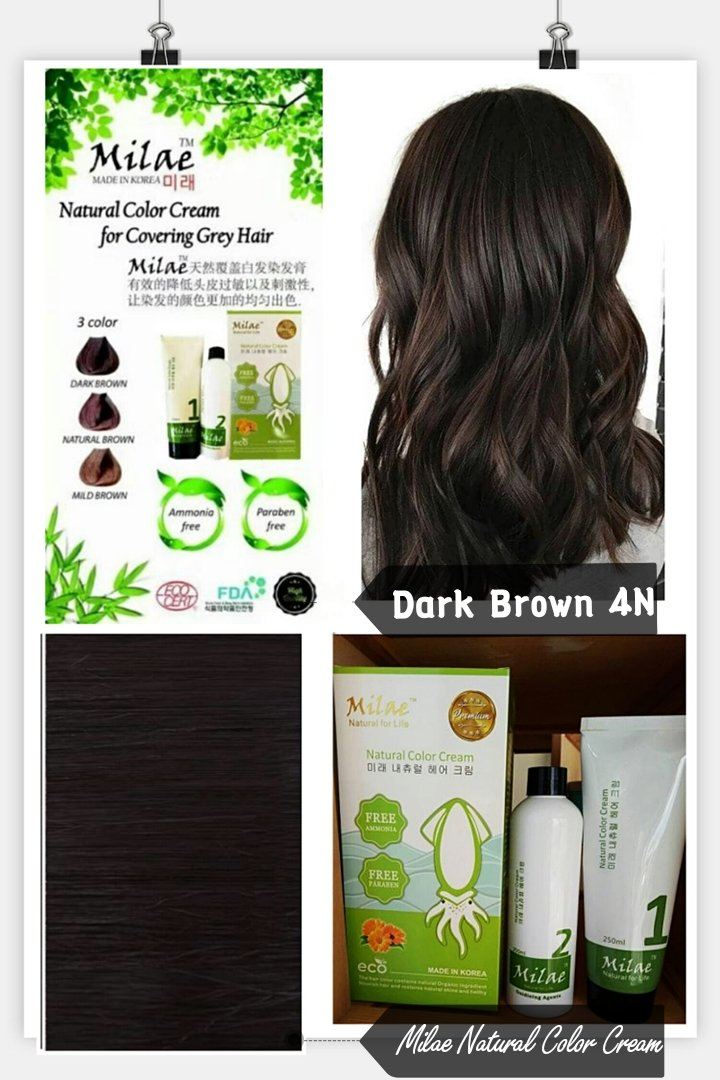 Milae Natural Color Cream 4N 250ml (DARK BROWN)