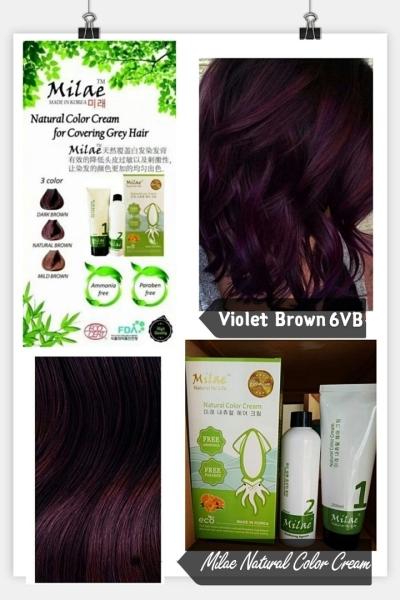 Milae Natural Color Cream 6N 250ml (VIOLET BROWN)