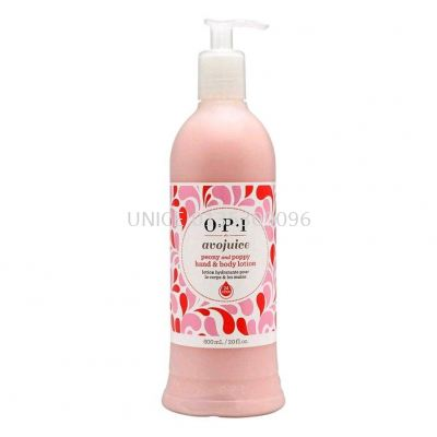 OPI Avojuice Hand & Body Lotion Peony & Poppy 600ml