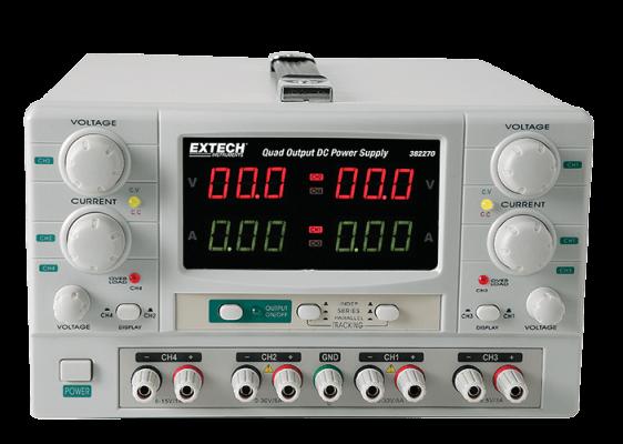 Extech 382270 Quad Output DC Power Supply